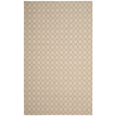 Loretto Cotton Hand-Woven Beige/Ivory Area Rug Rug Size: Rectangle 5 x 8