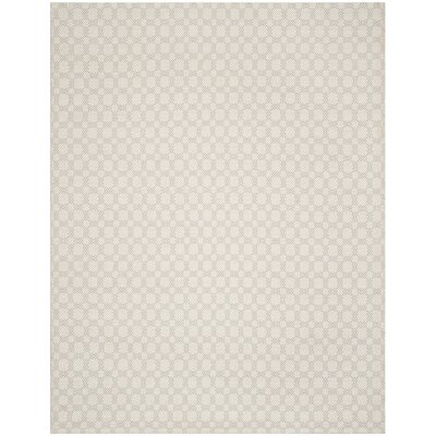 Luzerne Cotton Hand-Woven Silver/Ivory Area Rug Rug Size: Rectangle 8 x 10