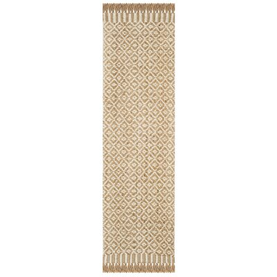 Nicholson Fiber Hand-Woven Natural/Ivory Area Rug Rug Size: Runner 23 x 8