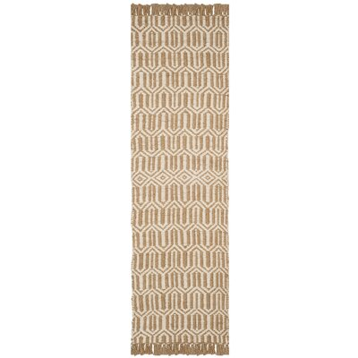Oakland Fiber Hand-Woven Natural/Ivory Area Rug Rug Size: Runner 23 x 8