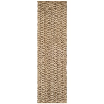 Oakdale Fiber Hand-Woven Natural/Brown Area Rug Rug Size: Runner 23 x 8