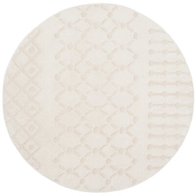 Burnvale Creme Area Rug Rug Size: Round 67