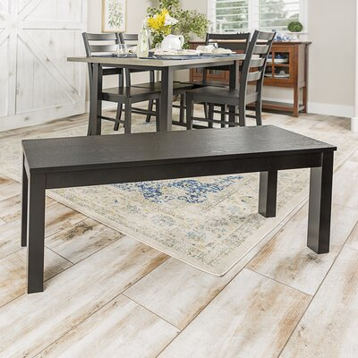 Chetna Simple Wood Dining Bench Color: Black