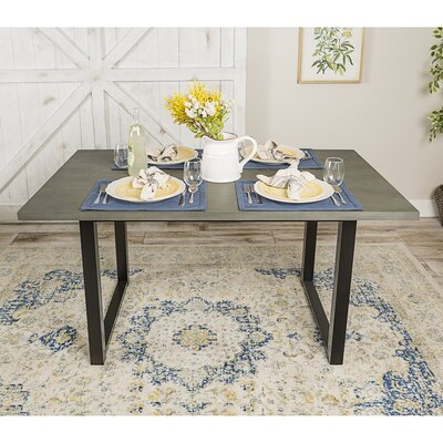 Shander Wood Dining Table Finish: Aged Gray
