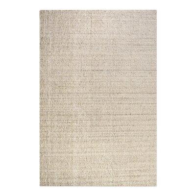 Peyton Hand-Woven Wool Beige Area Rug Rug Size: 5 x 8