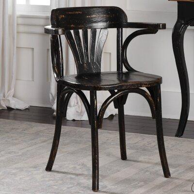 Quinn Arm Chair Finish: Black