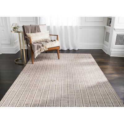 Meriwether Hand-Woven Beige/Tan Area Rug Rug Size: 9 x 12