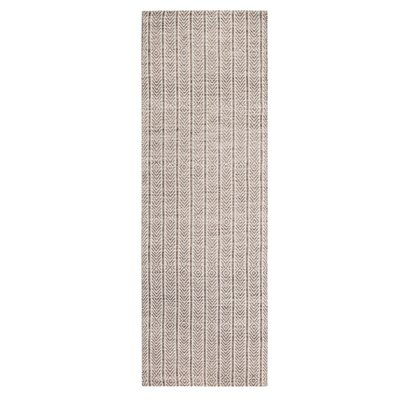Meriwether Hand-Woven Beige/Tan Area Rug Rug Size: Runner 26 x 8
