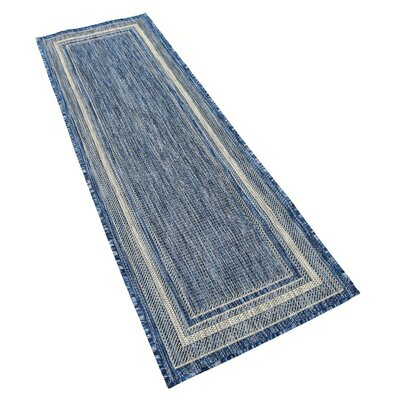 Durocher Blue Outdoor Area Rug Rug Size: Runner 2' x 6'