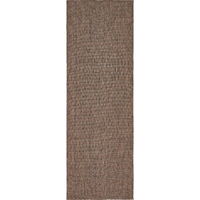 Cheriton Brown Indoor/Outdoor Area Rug Rug Size: Runner 2 x 6