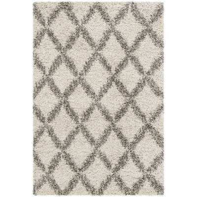 Quito Ivory/Gray Area Rug Rug Size: Rectangle 2 x 3
