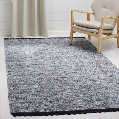 Mohnton Hand-Woven Black/Gray Area Rug Rug Size: Rectangle 5 x 8