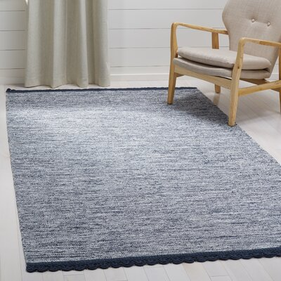 Mohnton Hand-Woven Navy/Gray Area Rug Rug Size: Rectangle 5 x 8