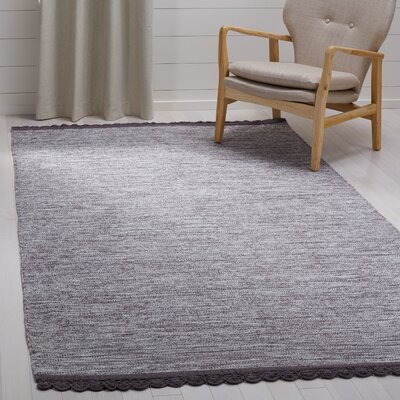 Mohnton Hand-Woven Charcoal Area Rug Rug Size: Rectangle 5 x 8