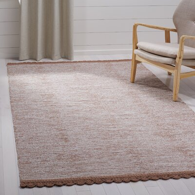 Mohnton Hand-Woven Brown/Gray Area Rug Rug Size: Rectangle 5 x 8