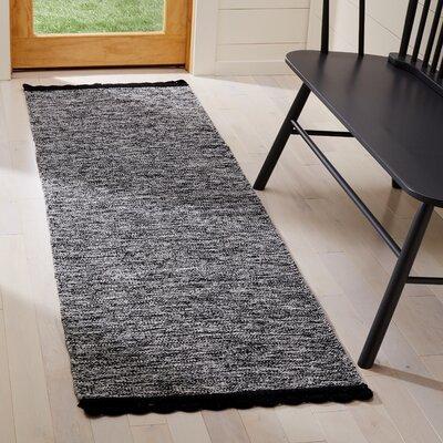 Mohnton Hand-Woven Black/Gray Area Rug Rug Size: Runner 23 x 7