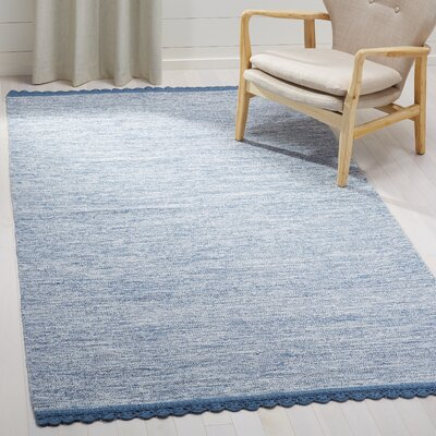 Mohnton Hand-Woven Blue/Gray Area Rug Rug Size: Rectangle 5 x 8