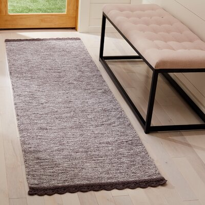 Mohnton Hand-Woven Charcoal Area Rug Rug Size: Runner 23 x 7