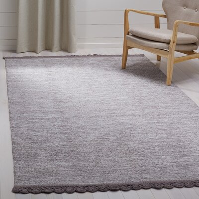 Mohnton Hand-Woven Gray Area Rug Rug Size: Rectangle 5 x 8