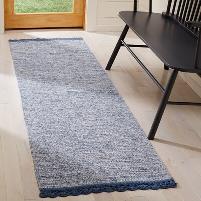 Mohnton Hand-Woven Blue/Gray Area Rug Rug Size: Runner 23 x 7