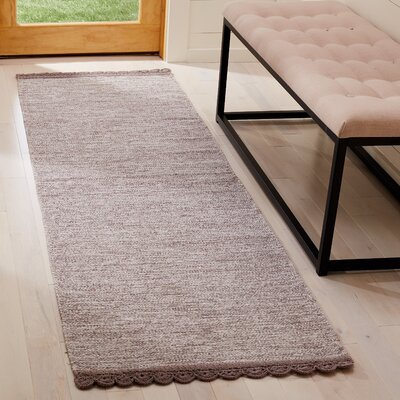 Mohnton Hand-Woven Gray Area Rug Rug Size: Runner 23 x 7