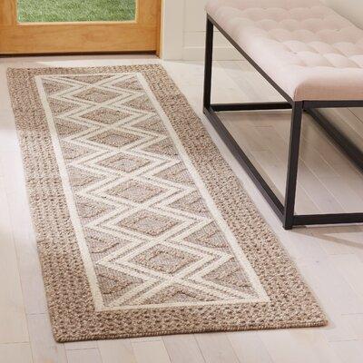 Xamiera Hand Tufted Wool Beige Area Rug Rug Size: Runner 23 x 8