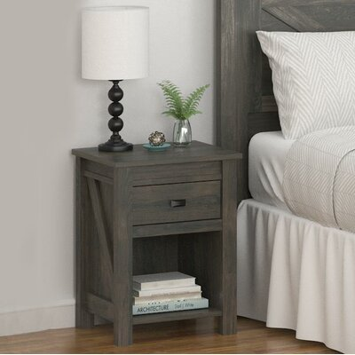 Cleveland 1 Drawer Nightstand Color: Weathered Oak