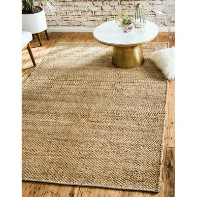 Petersen Hand-Woven Natural Area Rug Rug Size: 9 x 12