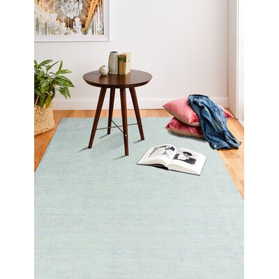 Severo Hand-Loomed Sky Area Rug Rug Size: Rectangle 86 x 116