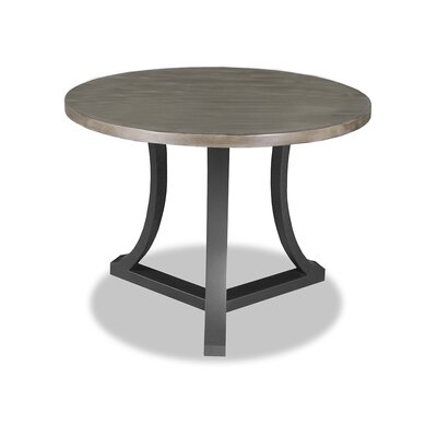Louisa Pub Table Top Color: Dry Cement, Size: 42 H x 42 L x 42 W