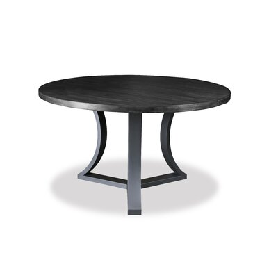 Louisa Rounded Wood Dining Table Finish: Dry Grey