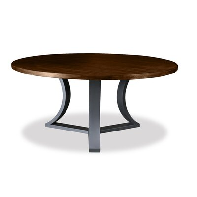 Louisa Modern Rounded Wood Dining Table Finish: Dry Cognac