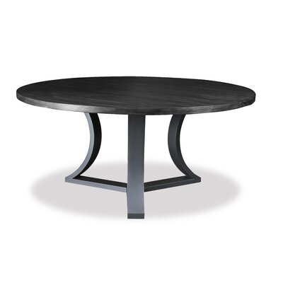 Louisa Modern Rounded Wood Dining Table Finish: Dry Grey