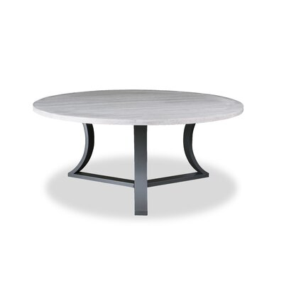 Louisa Modern Rounded Wood Dining Table Finish: Dry White