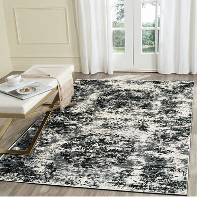 Pinson Black/White Area Rug Rug Size: Runner 21 x 75