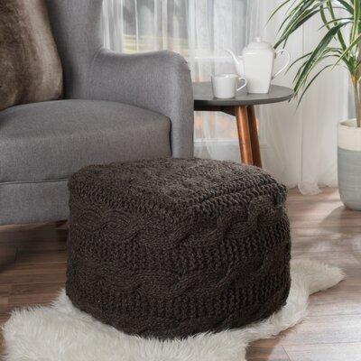 Lembach Pouf Upholstery: Charcoal
