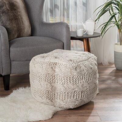 Lembach Pouf Upholstery: Ivory