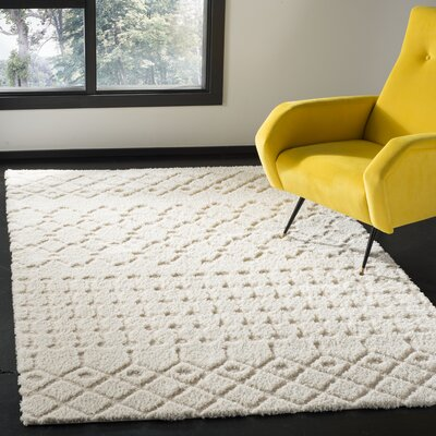 Burnvale Creme Area Rug Rug Size: Rectangle 51 x 76
