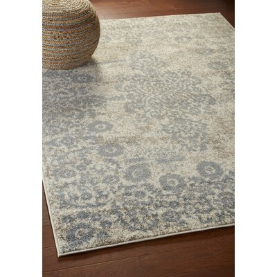 Pinson Blush Gray Area Rug Rug Size: Rectangle 52 x 72