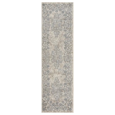 Pinson Blush Gray Area Rug Rug Size: Runner 21 x 75
