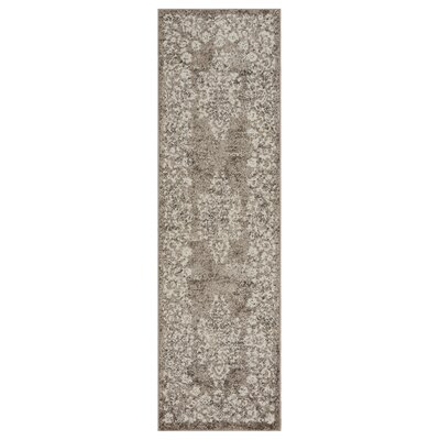 Pinson Taupe Area Rug Rug Size: Runner 21 x 75