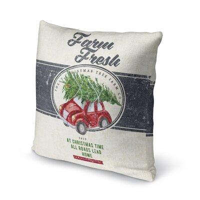 Darren Farm Fresh Outdoor Throw Pillow Size: 18 x 18