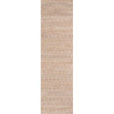 Supriya Hand-Woven Natural Area Rug Rug Size: Runner 23 x 8