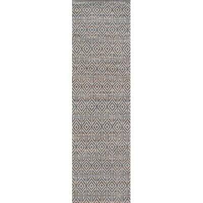 Supriya Hand-Woven Gray Area Rug Rug Size: Runner 23 x 8