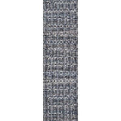 Supriya Hand-Woven Blue Area Rug Rug Size: Runner 23 x 8