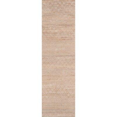 Supriya Hand-Woven Natural Geometric Area Rug Rug Size: Runner 23 x 8