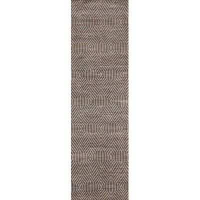 Supriya Hand-Woven Charcoal Area Rug Rug Size: Runner 2'3