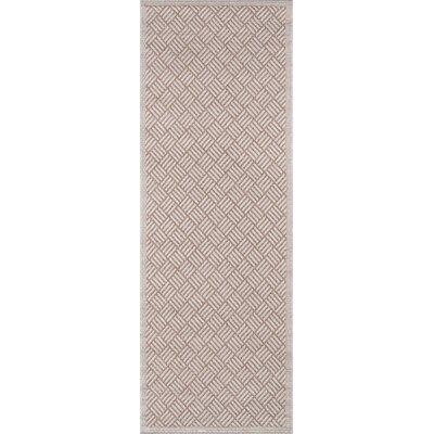 Milivoje Tan Geometric Area Rug Rug Size: Runner 27 x 76
