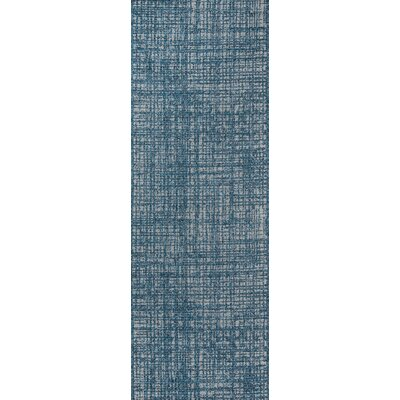 Milivoje Blue Abstract Area Rug Rug Size: Runner 27 x 76