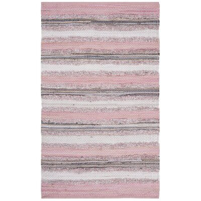 Monaca Hand-Woven Pink/Gray Area Rug Rug Size: Rectangle 2 x 3